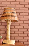 Rattan lamp Royalty Free Stock Photos