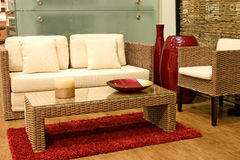 Rattan living room Royalty Free Stock Photos