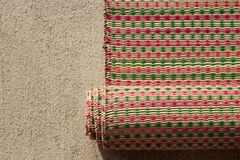 Rattan mat handmade for sopport sitting on ground Stock Photo