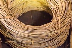 Rattan, Materialien benutzt, um Korb oder Möbel herzustellen stockbild