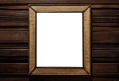 Rattan obrazka łozinowa drewniana rama rattan ściany łozinowy drewniany lustro dekoruje, na twarde drzewo ścianie zdjęcia royalty free