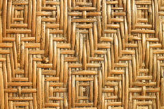 Rattan pattern of Thai handicrafts. Royalty Free Stock Photo
