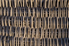 Rattan patterns. Close up of rattan patterns from a chair royalty free stock images