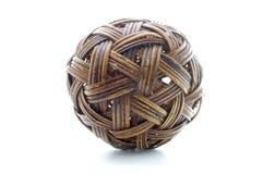 Rattan piłka, bambusowa piłka Zdjęcia Stock