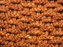 Rattan plaited mats close up. Close up of plaited mats made from rattan Royalty Free Stock Photography