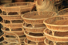 Rattan products for sale Royalty Free Stock Photography