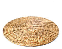 Rattan round placemat Stock Photos