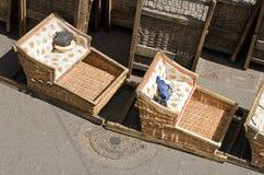 Rattan sleigh Monte (Madeira) Royalty Free Stock Image