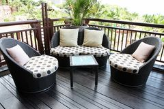Rattan sofa. Royalty Free Stock Photos