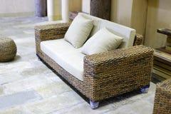 Rattan sofa Stock Image