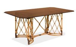 Rattan stół z blatem zdjęcie royalty free