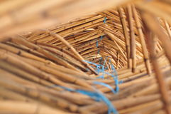 Rattan Stack. A stack of rattan in a factory Royalty Free Stock Photo