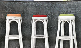 Rattan Stool Chair Stock Images