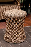 Wicker and Rattan Stool. Naturel Wicker/Rattan Stool, modern design royalty free stock photos