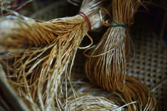 Rattan strips for make baskets, woven from willow twigs. typically made from interwoven strips of cane or wire. Baskets woven from willow twigs. typically made Stock Image