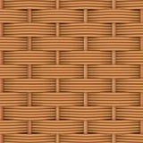 Rattan tecido com testes padrões naturais Fotografia de Stock Royalty Free