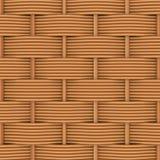 Rattan tecido com testes padrões naturais Imagem de Stock