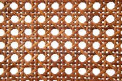 Rattan texture from thonet chair handcrafted Royalty Free Stock Image