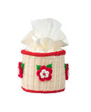 Rattan tissue paper box Royalty Free Stock Photography