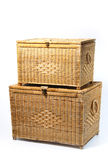 Rattan trunk box Royalty Free Stock Image
