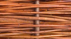Rattan, vime, close up de uma parte de uma cesta Imagem de Stock Royalty Free