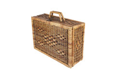 Rattan weave bag Royalty Free Stock Photo