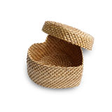 Rattan weave, heart-shaped box Royalty Free Stock Photo