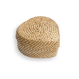 Rattan weave, heart-shaped box Royalty Free Stock Photos