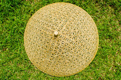 Rattan weave pattern on the grass Stock Photos