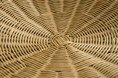 Rattan weave in radial pattern. Royalty Free Stock Image