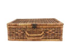 Rattan weave suitcase Stock Photo