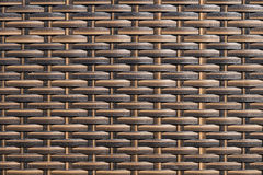 Rattan weave texture used on outdoor garden furniture Stock Photography