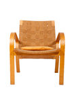 Rattan weaved armchair Royalty Free Stock Image