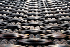Rattan weaving surface for texture background. Royalty Free Stock Images