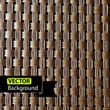 Rattan. Wicker pattern texture, vector background Royalty Free Stock Images