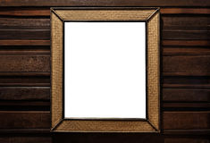 Rattan wicker wooden picture frame. rattan wicker wooden wall mirror decorate, on hardwood wall. Rattan wicker wooden picture frame. rattan wicker wooden wall royalty free stock photos