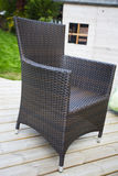 Rattan woven garden furniture Royalty Free Stock Images