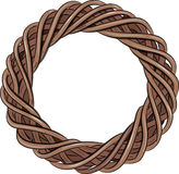 Rattan wreath entwined. On white, vector illustration, eps-10 Royalty Free Stock Photos