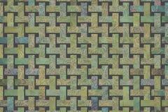 Rattan wyplatający maty wzór, tło lub tekstura dla projekta, ilustracja wektor