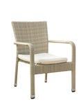 Rattan wyplatający stylizujący krzesło odizolowywający na bielu Fotografia Royalty Free