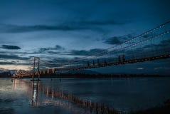 Rattanakosin-Hängebrücke Lizenzfreies Stockfoto