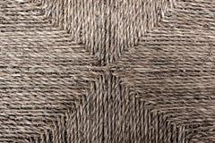 Rattanbeschaffenheit, Detail handcraft den Bambus, der zurück spinnt Stockfotos