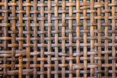 Rattanwebartgewebe Stockbild