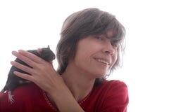 Ratte auf der Schulter stockfoto