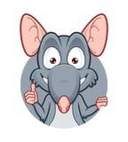 Ratte, die Daumen aufgibt Stockfotografie