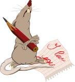 Ratte, Liebe und eine Anmerkung Stockbild