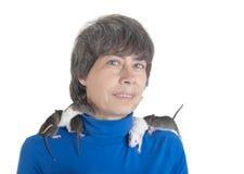 Ratten auf Schultern Stockfotografie