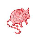 Ratten Chinese dierenriem Royalty-vrije Stock Afbeeldingen