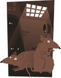 Ratten in de tunnels Royalty-vrije Stock Afbeelding