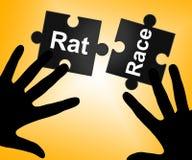 Ratten-Rennen bedeutet den bearbeiteten Lebensstil und Schufterei Lizenzfreies Stockfoto